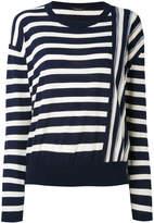 Roberto Collina contrast stripe sweater