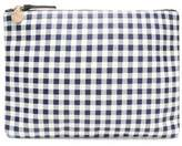 Clare Vivier Checked Leather Clutch