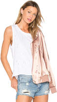 Bobi Destructed High Lo Tank in White. - size M (also in S,XS)
