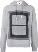 Comme des Garcons panel overlay hoodie
