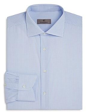 Canali Open Check Regular Fit Dress Shirt