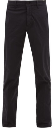Dunhill Slim-fit Stretch-cotton Chinos - Mens - Navy
