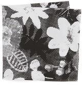 The Hill-Side Big Halftone Floral Print Pocket Square