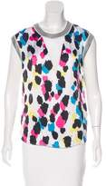 Sandro Printed High-Low Top