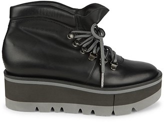 Clergerie Bubble Leather Platform Hiking Boots