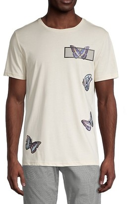Antony Morato Butterfly-Print Cotton T-Shirt