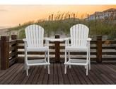 Adirondack Huggins Patio Plastic Chair with Table Breakwater Bay