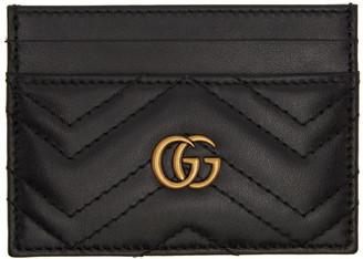 Gucci Black GG Marmont Card Case