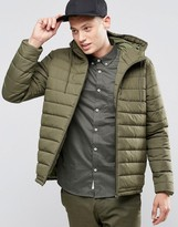 Element Hayden Hooded Quilt Jacket Moss Green