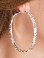 Diamond Filigree Hoop Earrings