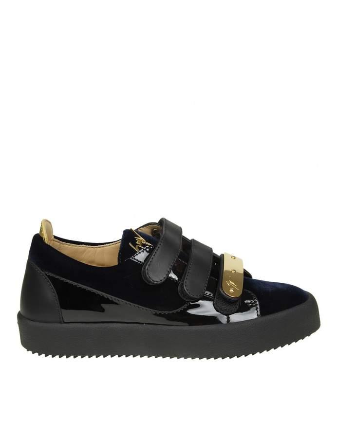 Giuseppe Zanotti Sneakers may In Blue Velvet
