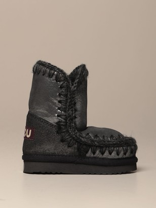Mou Eskimo Sneakers Boot In Laminated Sheepskin