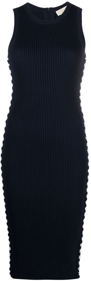 MICHAEL Michael Kors Lace-Up Detail Fitted Dress