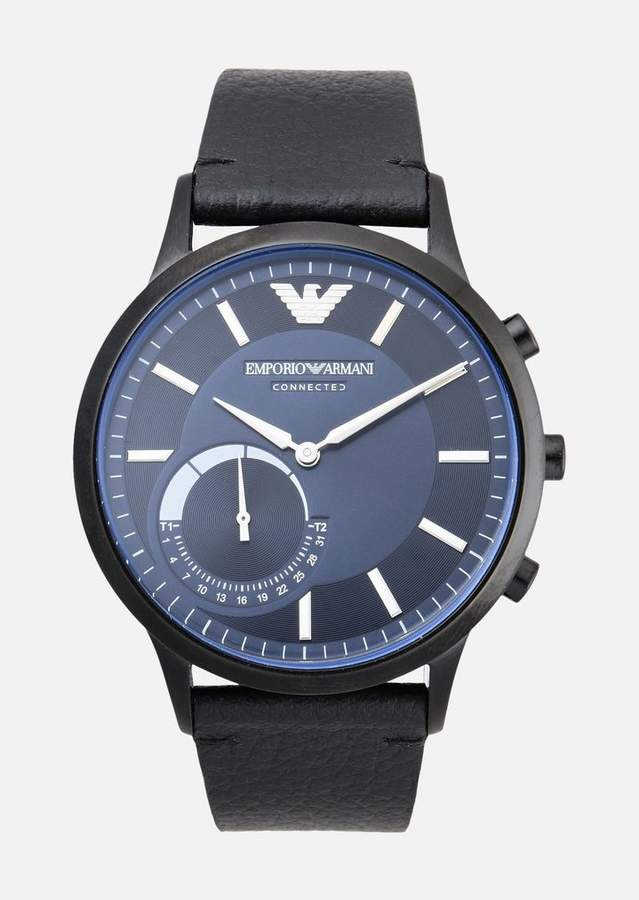 Emporio Armani Smartwatch Hybrid In Leather
