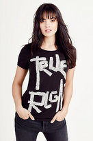 True Religion Hot Fixx Slim Crew Neck Womens Tee