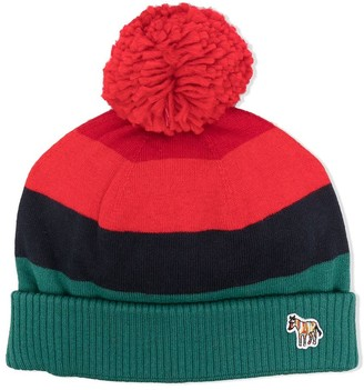 Paul Smith Panelled Pompom Beanie