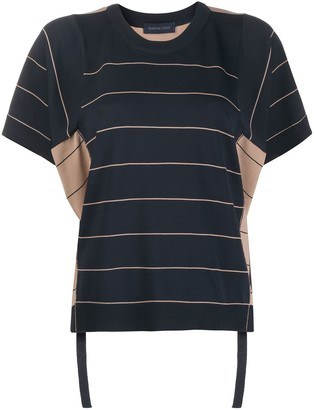 Eudon Choi striped panel T-shirt