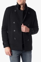 7 For All Mankind Fleece Peacoat In Black