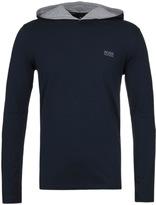 Boss Navy Long Sleeve Hooded T-shirt