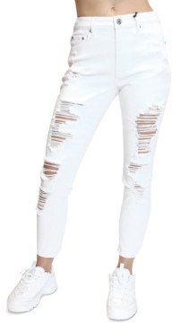Almost Famous Juniors' Distressed Mom Jeans