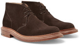 Grenson Oscar Triple-welt Suede Chukka Boots - Dark brown