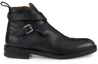 Salvatore Ferragamo Becker Leather Ankle Boots