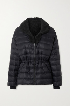 Ienki Ienki Polar Reversible Quilted Down And Shearling Ski Jacket - Black