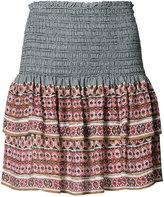 Veronica Beard printed mini ruffled skirt - women - Silk - 4