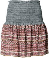 Veronica Beard printed mini ruffled skirt