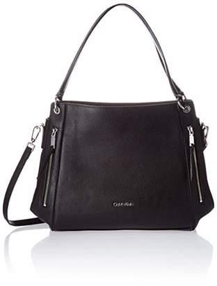 Calvin Klein Melanie Pebble Leather Slouchy Zip Face Hobo