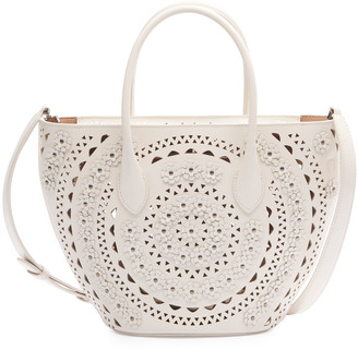 Alaia Latifa Mini Cuir Lux Tote Bag
