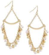 BCBGeneration Gold-Tone Shaky Bead Chandelier Earrings