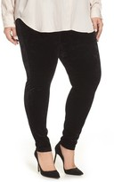 Vince Camuto Plus Size Women's Crushed Velvet Knit Leggings