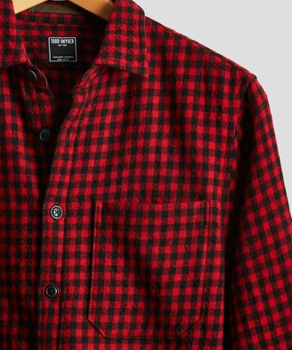 Todd Snyder Red Buffalo Wool Shirt Jacket