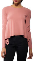 KENDALL + KYLIE Side Draped Silk Top