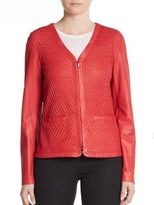 Escada Woven Leather Jacket