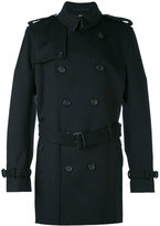 Burberry belted midi trenchcoat - men - Viscose/Cashmere/Virgin Wool - 54