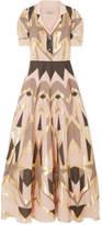 Temperley London Soleil Metallic Fil Coupé Maxi Dress - Beige