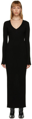 DRAE Black Rib Knit Dress