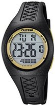 Calypso Unisex Digital Watch with LCD Dial Digital Display and Black Plastic Strap K5668/6