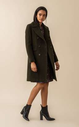 Soia & Kyo EVETTE classic wool coat with quilted puffer lining