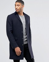 Jack Wills Overcoat In Navy
