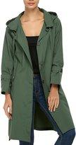 ACEVOG Womens Watertight Front-Zip Hooded Rain Jacket Sports Rain Coat ( M)