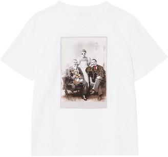 BURBERRY KIDS collage print crew neck T-shirt