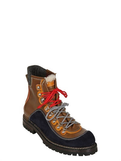 DSquared St Moritz Suede & Leather Hiking Boots