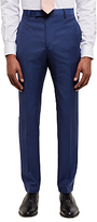 Jaeger Textured Weave Slim Fit Suit Trousers, Blue