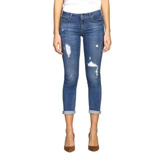 Liu Jo Slim Jeans In Used Denim With Tears