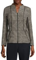 Lafayette 148 New York Kyla Geometric Zip-Front Jacket