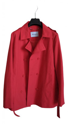 Max & Co. Red Cotton Coats