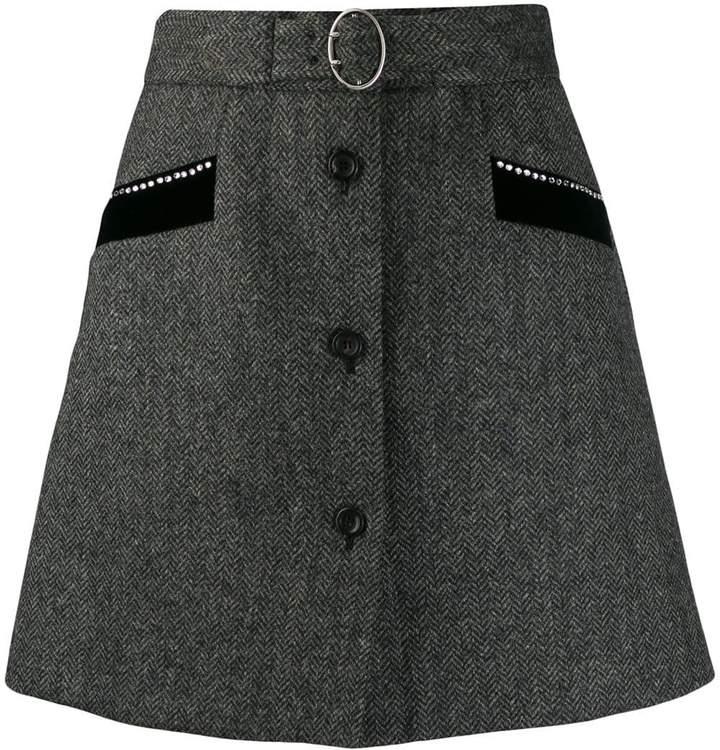 Miu Miu belted a-line skirt